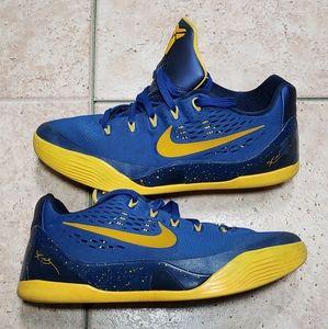 Nike Kobe 9 IX Gym Blue Gold Mamba Sz 6y
